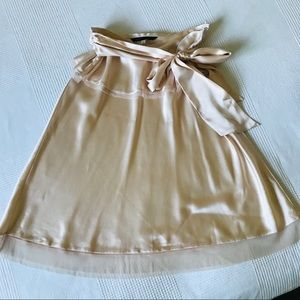 Marc Jacobs Silk Satin Blush Skirt with Sash